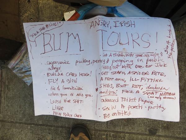 Angry Irish Bum Tours Close-up