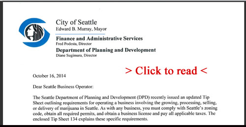 "City of Seattle ""Comply of Close"" Letter to MMJ Shops"